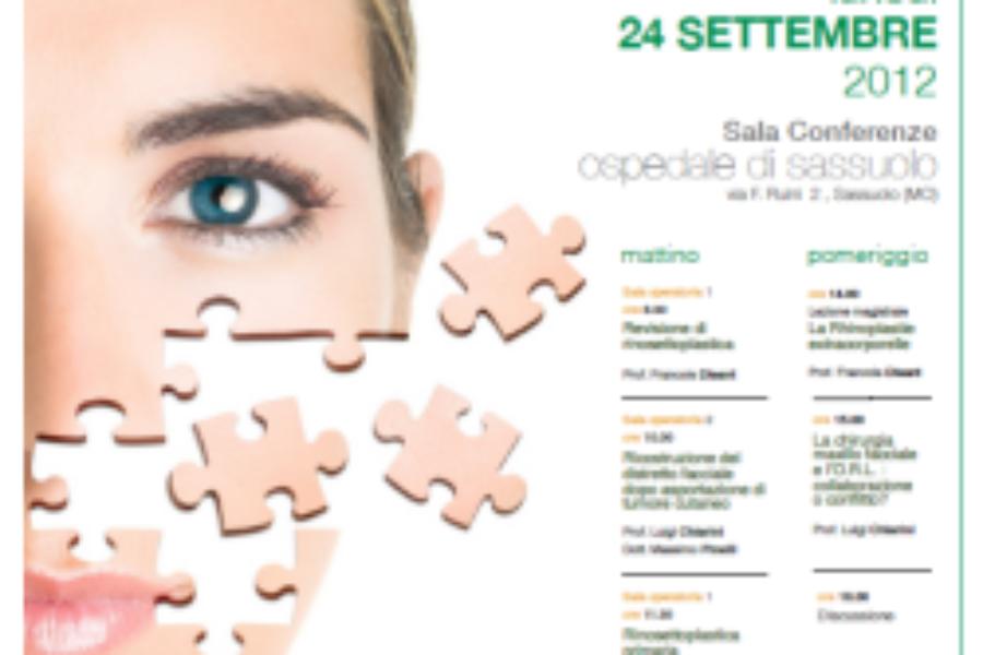 """Lunedì 24 Settembre, presso l'Ospedale di Sassuolo, si terrà il convegno """"Chirurgia estetica e funzionale del viso"""""""