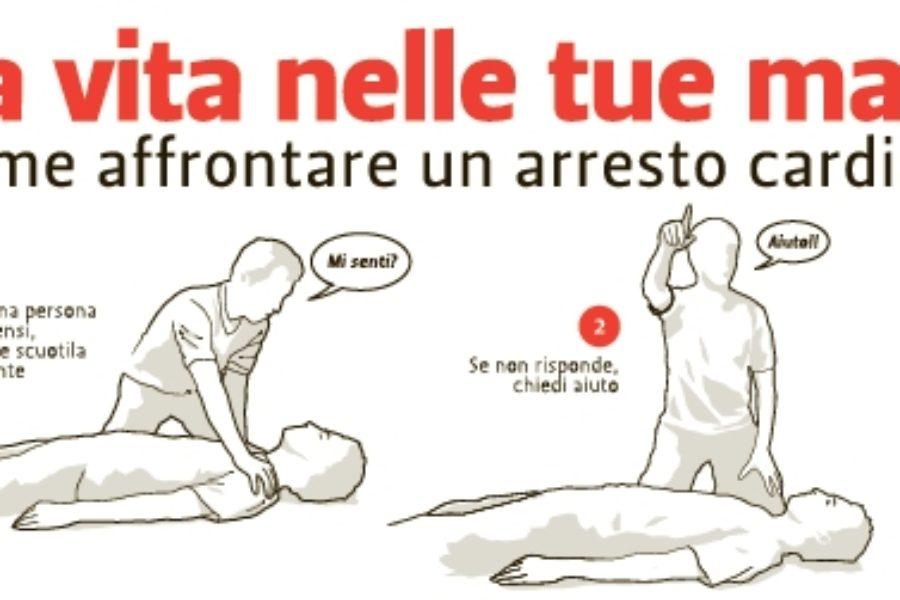 """""""Mani per la vita"""", per ricordare come con pochi gesti sia possibile salvare una vita"""