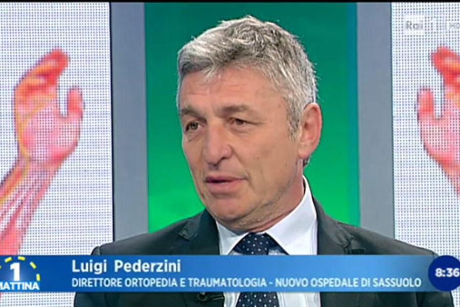 Luigi Pederzini in diretta a Rai1