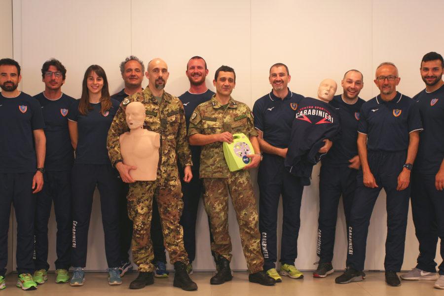 """In Florim un corso di """"Basic Life Support"""" per la Sezione Atletica dei Carabinieri di Bologna"""