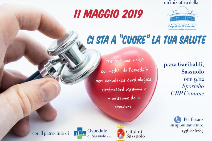 Sabato 11 maggio, in piazza, visite cardiologiche gratuite